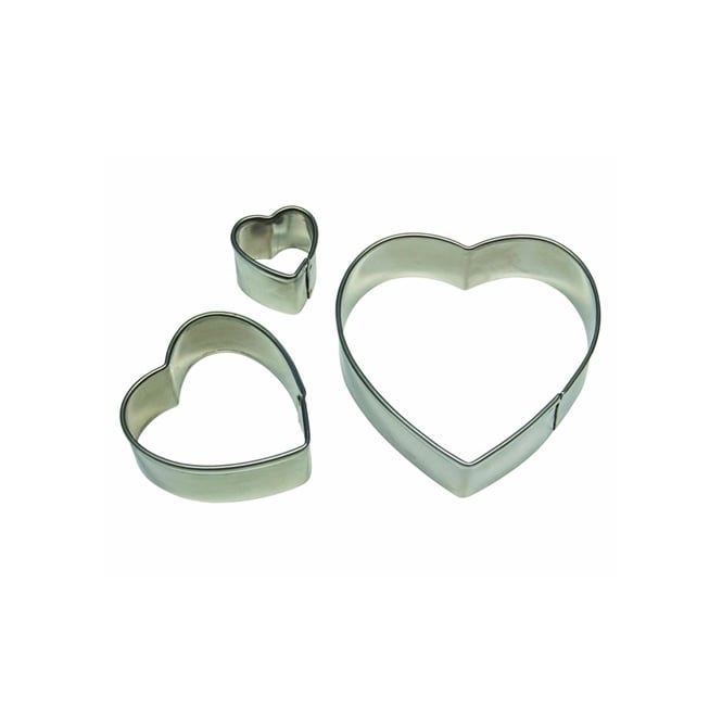 PME Heart Cutter Set Of 3