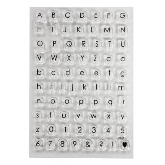 ImpressIt Small Alphabet And Numbers Stamp Set