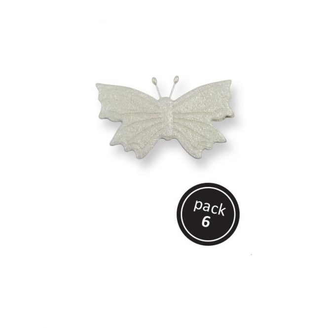 PME Large Pearl Sugar Butterflies - Pack of 6