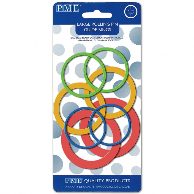 PME Large Rolling Pin Guide Rings Set Of 4