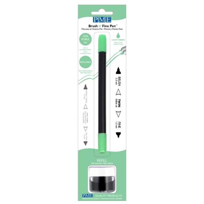 PME Light Green - Brush N Fine Edible Ink Pen