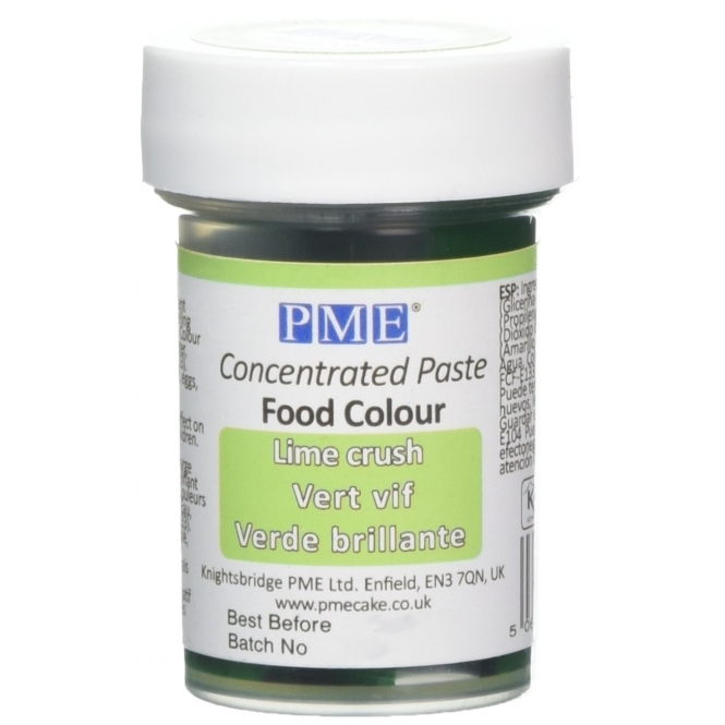 PME Lime Crush - Gel Paste Colouring