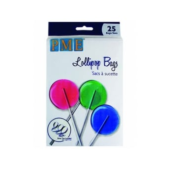 Lollipop Bags Pack Of 25 With Silver Ties