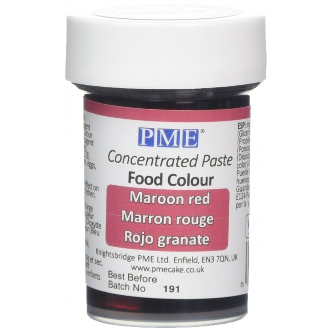 PME Maroon Red - Gel Paste Colouring