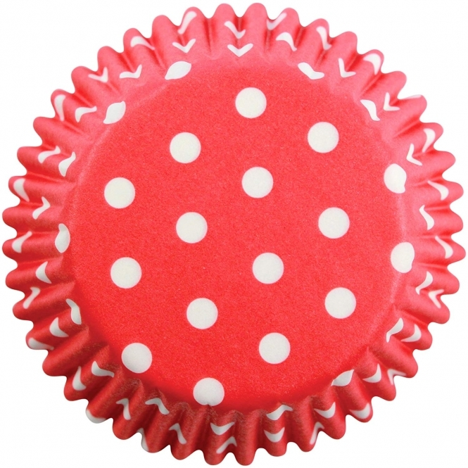 PME Mini Red Polka Dot - Baking Cases x 100 Cups