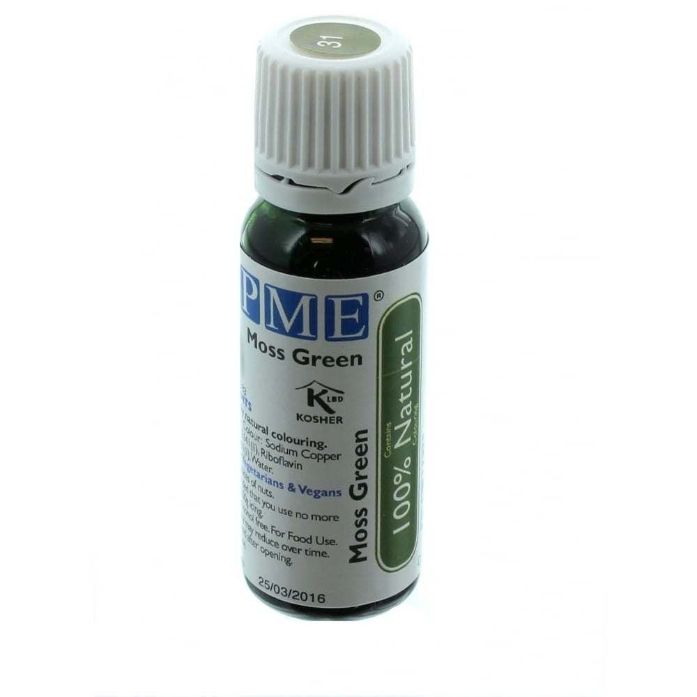 PME Moss Green - 100% Natural Food Colour - Colourings from The Cake ...