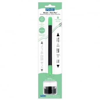 Light Green Brush N Fine Edible Ink Pen By PME