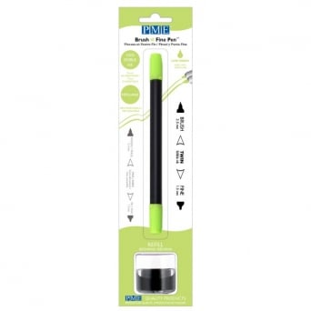 Lime Green Brush N Fine Edible Ink Pen By PME