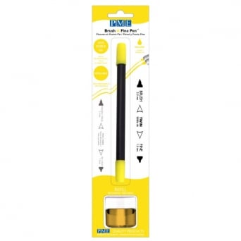 Yellow Brush N Fine Edible Ink Pen By PME