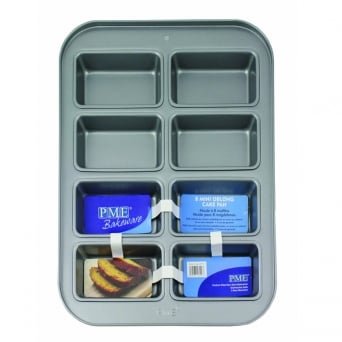 Non Stick 8 Mini Rectangle Cake Pan