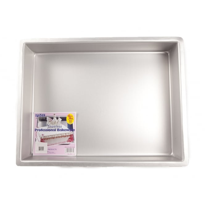 PME Oblong - 12 x 16 x 3 Inch - Seamless Cake Tin Pan