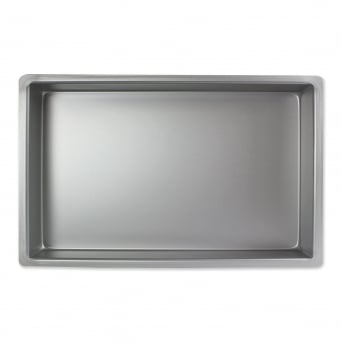 Oblong - 12 x 8 x 2 Inch - Seamless Cake Tin Pan