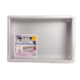 Oblong - 8 x 12 x 3 Inch - Seamless Cake Tin Pan