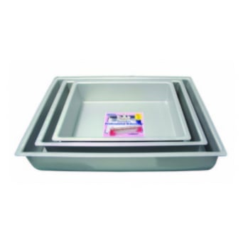 Oblong - Rectangle - 12 x 15 x 2 Inch - Seamless Cake Pan Tin