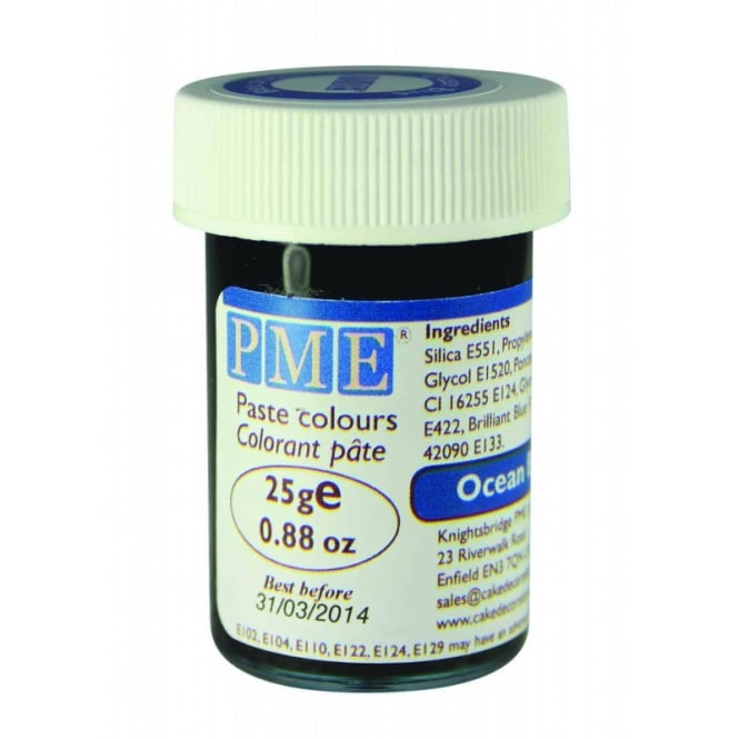 PME Ocean Blue - Gel Paste Colouring - Choose A Size