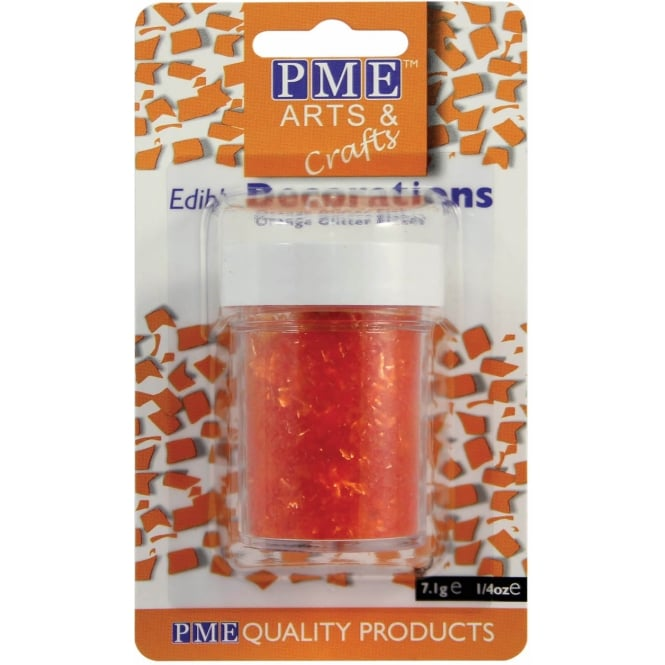 PME Orange - Edible Glitter Flakes