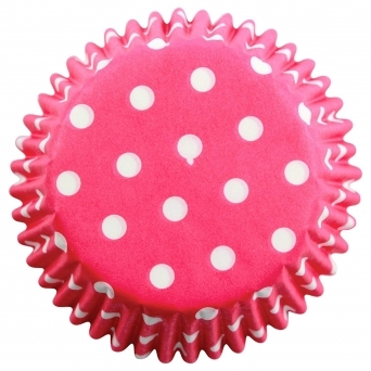 Pink - Polka Dots Baking Cases x 60 Cups