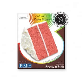 Pretty N Pink - Colourful Egg Free Cake Mix 500g