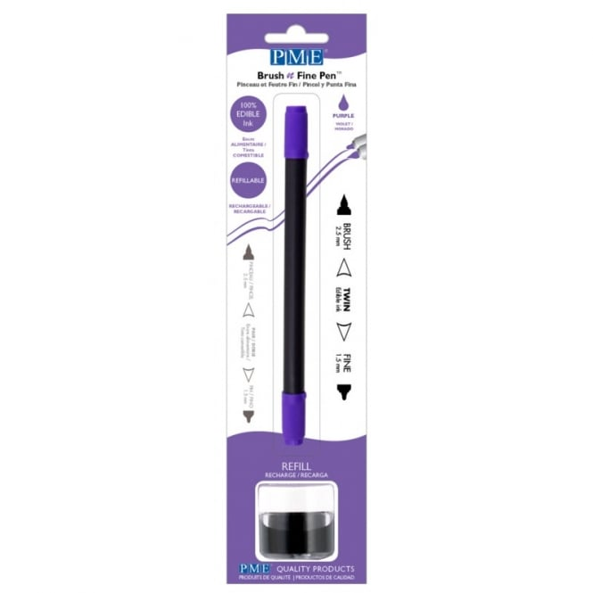 PME Purple - Brush N Fine Edible Ink Pen