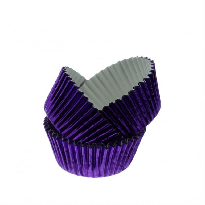 PME Purple - Metallic Baking Cases by x 30 Cups