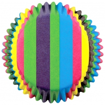 Rainbow Stripes - Standard Baking Cases x 60 Cups