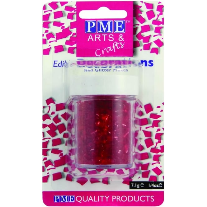 PME Red - Edible Glitter Flakes