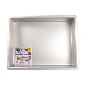 Oblong - 12 x 16 x 3 Inch - Seamless Cake Tin Pan