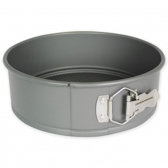 Silver 6 X 3 Inch Round Anodised Springform Cake Tin