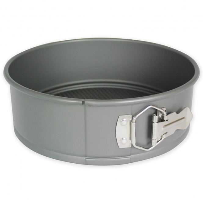 PME Silver 9 x 3 Inch Round Anodised Springform Cake Tin
