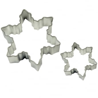 Snowflake Cake And Cookie Cutter Set Of 2