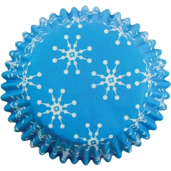 Snowflake Cupcake Baking Cases Pack Of 60