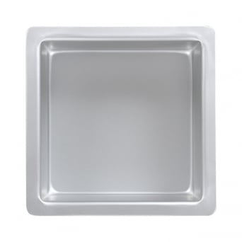 Square - 4 x 4 x 3 Inch - Seamless Cake Pan Tin