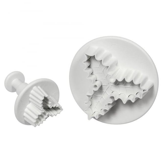 PME Three Leaf Holly Plunger Cutter - 25mm and 45mm - Set of 2