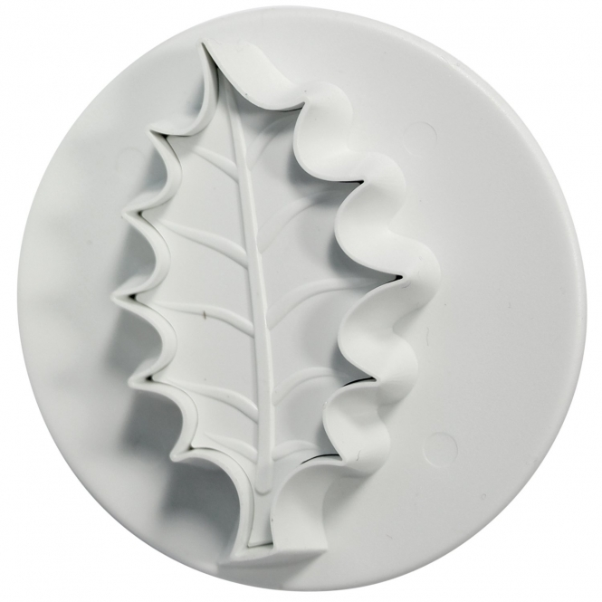 PME Veined Holly Leaf Plunger Cutter - Medium