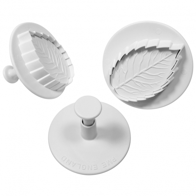 PME Veined Rose Leaf Cutter Set Of 3