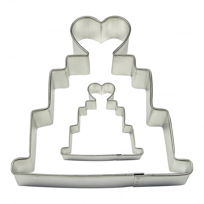 PME Wedding Cake And Cookie Cutter Set Of 2
