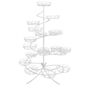 White - Spiral Cupcake Stand