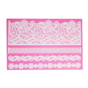 Pretty Paisley Large Cake Lace Mat