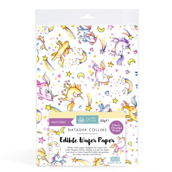 Squires Kitchen  Unicorns Edible Wafer Paper Set Of 2 Natasha Collins