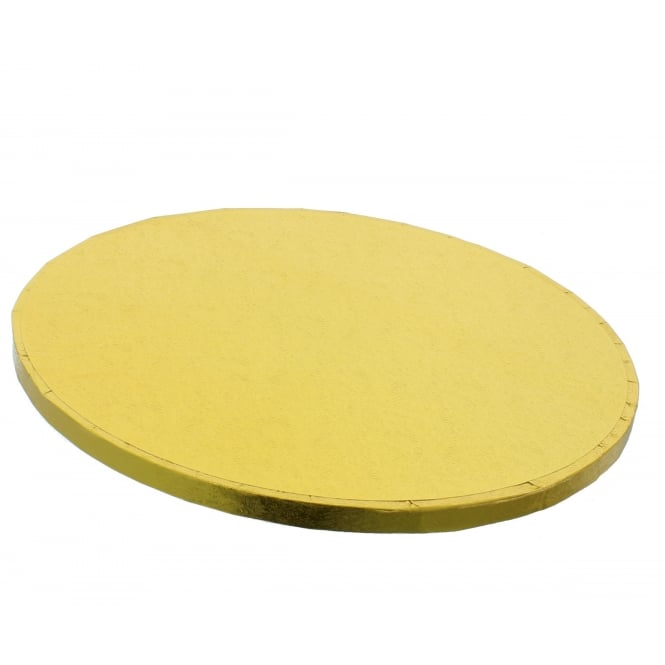 The Cake Decorating Co. Gold Round Drum Cake Board - Choose A Size