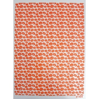 Pumpkin Print Chocolate Transfer Sheet - Modecor