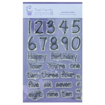 ImpressIt Birthday Numbers And Ages Stamp Set