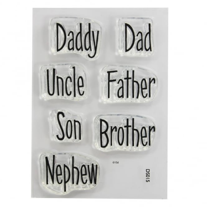 Purple Cupcakes ImpressIt Dad And Uncle Phrases Stamp Set