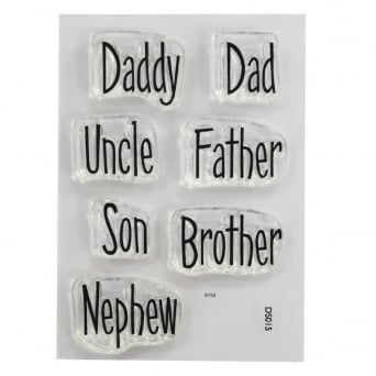 ImpressIt Dad And Uncle Phrases Stamp Set