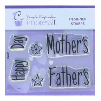 ImpressIt Happy Mother's - Father's Day Stamp