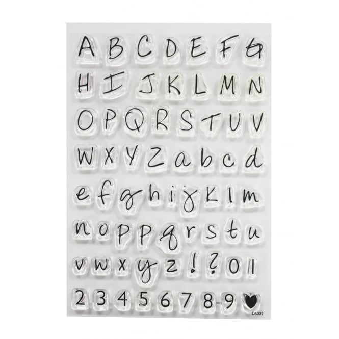 PME ImpressIt Large Alphabet And Numbers Stamp Set