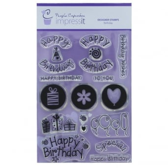 ImpressIt Large Happy Birthday Stamp Set