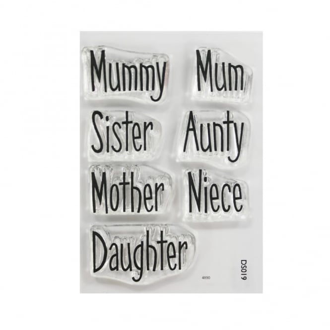 Purple Cupcakes ImpressIt Mum And Sister Phrases Stamp Set