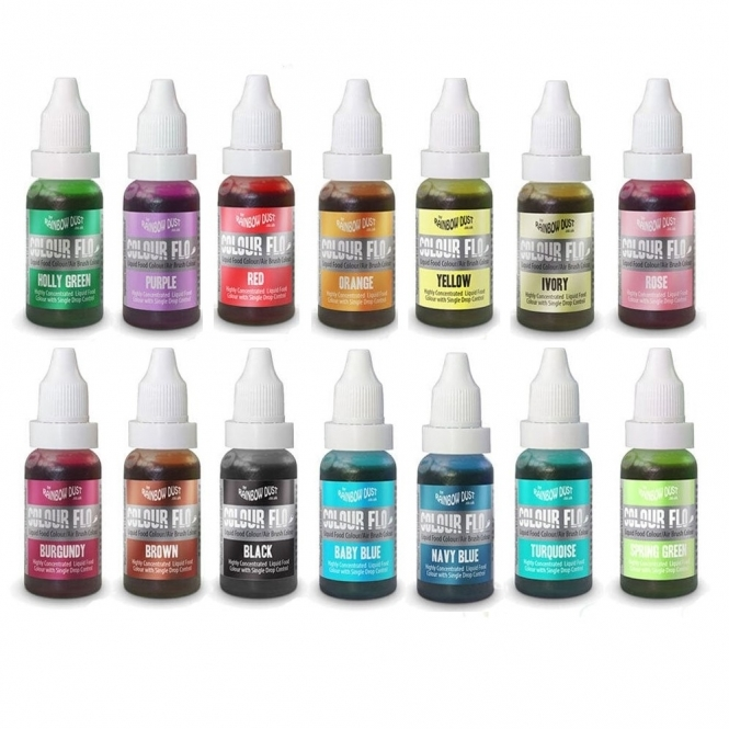 Rainbow Dust Black - Colour Flo 16ml Food Colouring