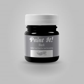 Black - Paint-It 25ml Edible Paint